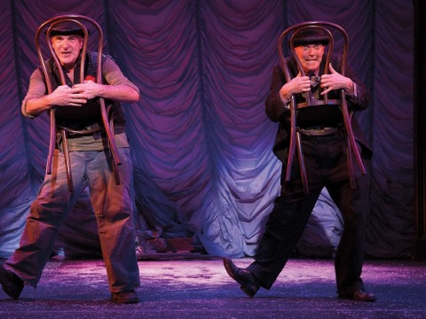 Mandy Patinkin (left) and Taylor Mac in the A.R.T.'s <i>The Last Two People On Earth: An Apocalyptic Vaudeville</i>