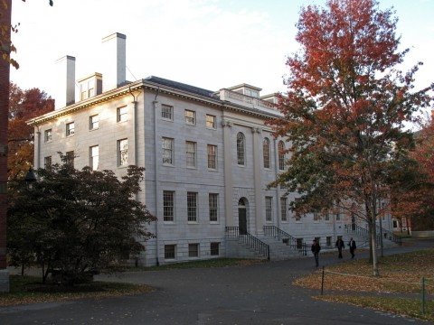 A photograph of University Hall, the administration building for the Faculty of Arts and Sciences