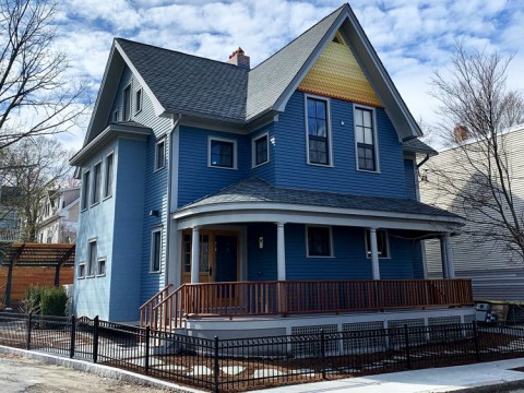 Photograph of the world's first net-zero Victorian passive house