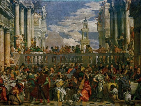"Reproduction of Veronese's ""The Wedding Feast at Cana"" (1563), the subject of a new book about art theft by Cynthia Saltzman"