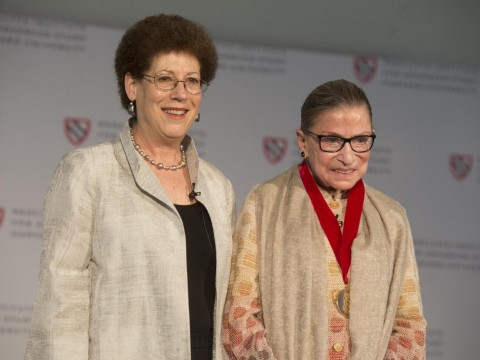 Dean Lizabeth Cohen and Justice Ginsburg