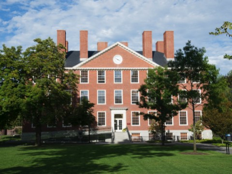 Photograph of Radcliffe Institute's Byerly Hall, where fellows meet