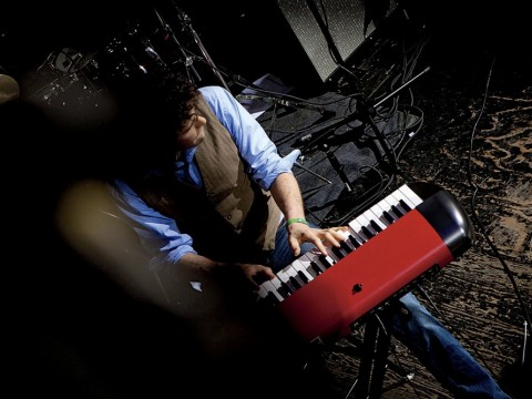 Ben Cosgrove at the keyboard during a recent performance