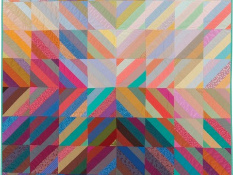 """Interweave,"" a 1982 studio quilt by Michael James. From the Ardis and Robert James Collection."