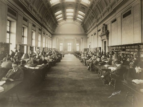 Widener's reading room was once an exclusively male intellectual sanctum.