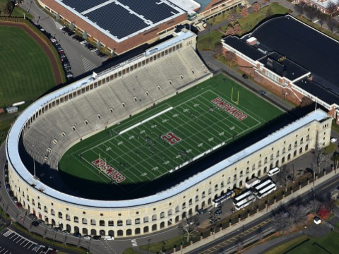 Aerial photograph of Harvard Stadium