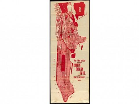 Map of New York City, 1895