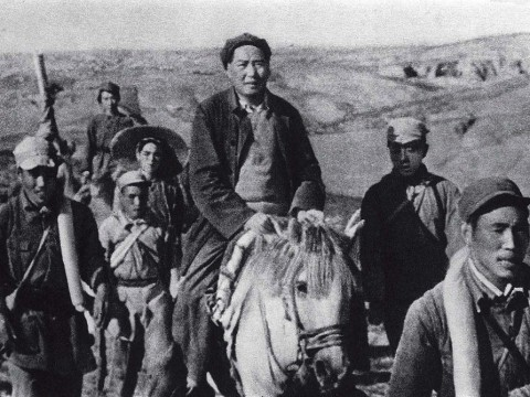 Photograph of Mao Zedong during what is thought to be the Long March, 1934-1935