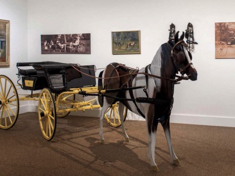A child's horse-drawn carriage from around 1907