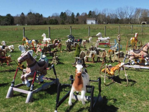 "The ""Rocking Horse Graveyard,"" in Lincoln, Massachusetts"