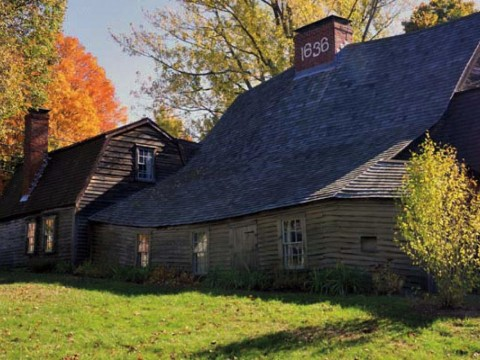 Photo of the colonial-era Fairbanks House in Dedham, Massachusetts