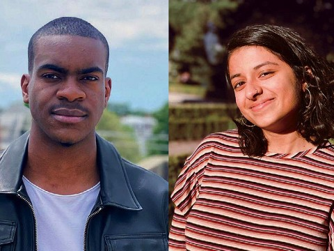Photographs of the new student writing fellows Che Applewhaite and Mean Venkataramanan