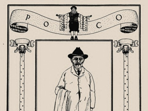 Drawing of Poco from Harvard Celebrities: A Book of Caricatures and Decorative Drawings, 1901
