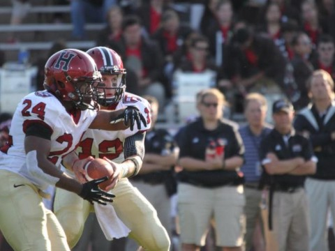 <b>One-two punch:</b> Between them, running back Treavor Scales (24) and quarterback Colton Chapple (19) accounted for six touchdowns in Harvard's 45-31 victory over Brown.