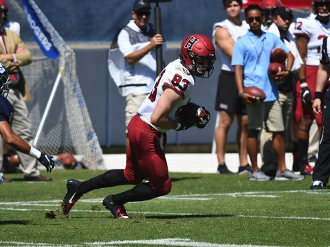 All right, Jack: Harvard senior wideout Jack Cook snared a team-high seven receptions, including an 80-yard touchdown pass-and-run, tied for fourth-longest scoring toss in Crimson history.