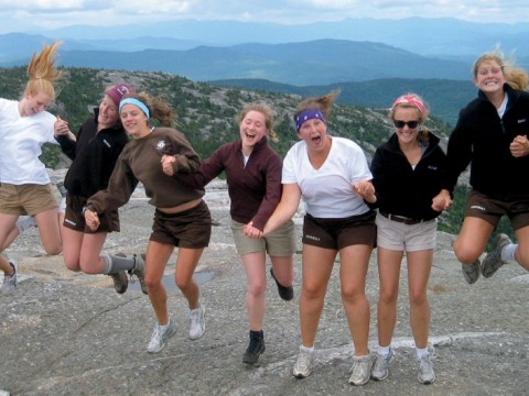 The 2011 Onaway counselors at the top of Mount Cardigan (the author is fourth from left)
