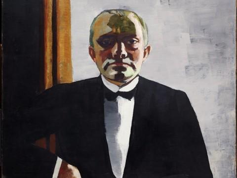 Max Beckmann, Self-Portrait in Tuxedo