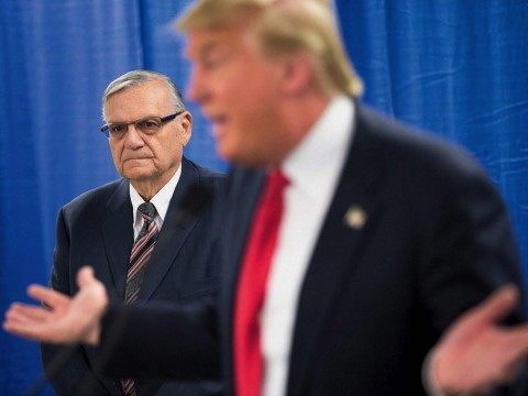 Photograph of President Donald Trump and Arizona sheriff Joe Arpaio