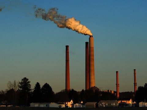 A coal burning power plant in Scottsdale, Arizona