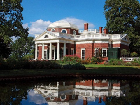 Photograph of the iconic Monticello, suggesting that Jefferson's role as an owner of enslaved people needs to be made part of his history