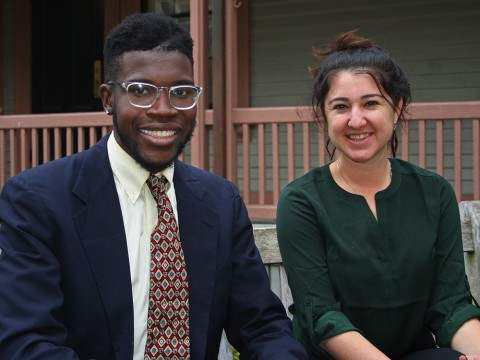 Photograph of Harvard Forward candidates Jayson Toweh and Thea Sebastian
