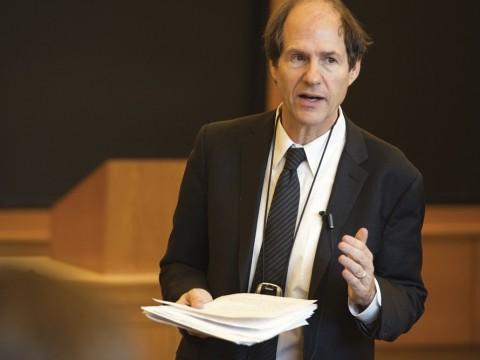 Professor Sunstein in his Harvard milieu, teaching administrative law