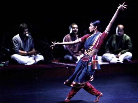 Shantala Shivalingappa performs at Boston's Institute of Contemporary Art in February.