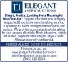 Elegant Introductions Jewish Singles Dating Ad